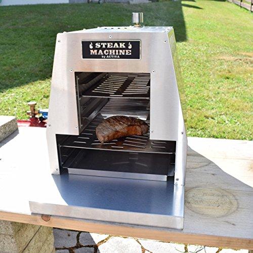 ACTIVA Grill Steak Machine Gasgrill Steak-Grill 800 Grad Oberhitze-Gasgrill BBQ - 5