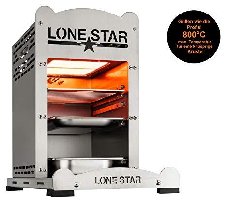 LoneStar StarBurner2 Edelstahl Steak Gasgrill Hochtemperatur Grill, Beef maker Oberhitzegrill bis 850 °C, Outdoor Gas Grill, Steaks Grillen wie ein Profi, Steakgriller mit regulierbarem Gasbrenner - 6