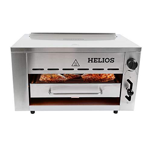 Meateor Helios Oberhitzegrill aus Edelstahl mit Piezo-Zünder für Temperaturen bis zu 800° C Inkl. Grillrost Und Auffangschale Gasgrill Hochleistungsgrill Pizzaofen - 4
