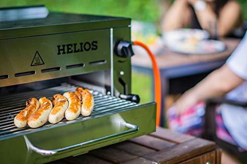 Meateor Helios Oberhitzegrill aus Edelstahl mit Piezo-Zünder für Temperaturen bis zu 800° C Inkl. Grillrost Und Auffangschale Gasgrill Hochleistungsgrill Pizzaofen - 7