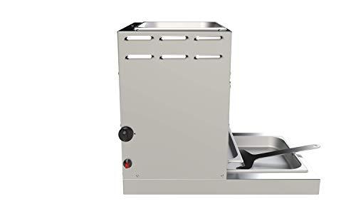 928°C Original Grill Doppel Röster. S70T. 7 kW. Doppelwandiger Oberhitze-Grill mit Hochleistungs-Infrarot-Brenner, Piezo Zündung, verlängerter Fett-Auffangwanne und Warmhalte-Schale (ca. 80°C) oben. - 5
