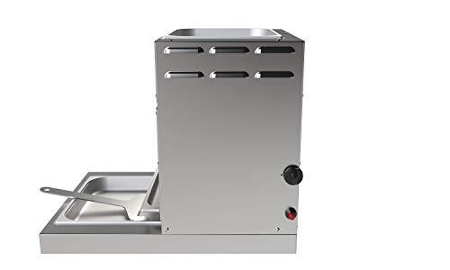 928°C Original Grill Doppel Röster. S70T. 7 kW. Doppelwandiger Oberhitze-Grill mit Hochleistungs-Infrarot-Brenner, Piezo Zündung, verlängerter Fett-Auffangwanne und Warmhalte-Schale (ca. 80°C) oben. - 6