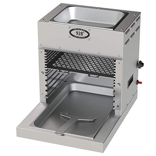928°C Original Grill Doppel Röster. S70T. 7 kW. Doppelwandiger Oberhitze-Grill mit Hochleistungs-Infrarot-Brenner, Piezo Zündung, verlängerter Fett-Auffangwanne und Warmhalte-Schale (ca. 80°C) oben. - 1