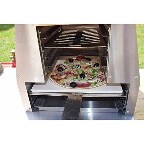 """ACTIVA Grill """"Steak Machine"""" Pizzaofen Pizzagrill Gasgrill Steak-Grill 800 Grad Oberhitze-Gasgrill aus Edelstahl - 4"""