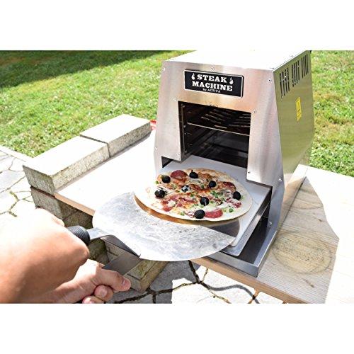 """ACTIVA Grill """"Steak Machine"""" Pizzaofen Pizzagrill Gasgrill Steak-Grill 800 Grad Oberhitze-Gasgrill aus Edelstahl - 5"""