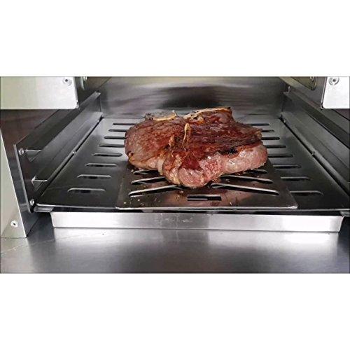 """ACTIVA Grill """"Steak Machine"""" Pizzaofen Pizzagrill Gasgrill Steak-Grill 800 Grad Oberhitze-Gasgrill aus Edelstahl - 8"""