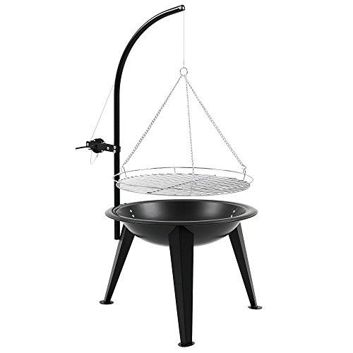 BBQ-TORO Schwenkgrill | Ø 55 cm | Holzkohle Grill mit Grillrost | Grillgalgen mit Kurbel | schwarz | Standgrill - 1