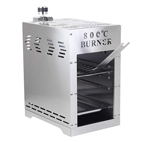 BonAura 800 Grad Burner Gasgrill für Steak und Beef – Gas Grill mit Brenner und Piezo Zünder – Oberhitzegrill BBQ aus Edelstahl - 1