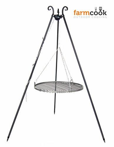 FARMCOOK Schwenkgrill VIKING Dreibein mit Grillrost aus Rohstahl in 4 Größen (Ø 70 cm) - 1