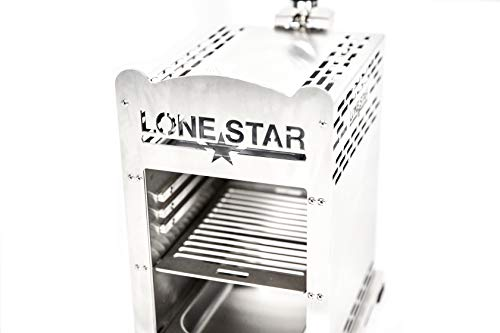 LoneStar Fleischmeister Edelstahl Beef Grill, Hochtemperatur Gasgrill, Beefmaker Oberhitzegrill bis 800°C, Gas Griller, Steak Grillen wie Profis, Steakgriller, Gasbrenner 3,8 KW, inkl. 4 Steakmesser - 4