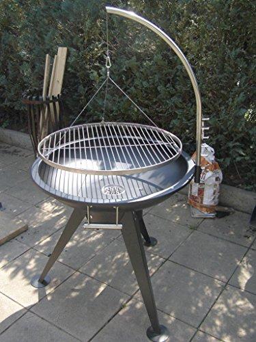 XXL BBQ Schwenkgrill Grill /Edelstahl / Feuerschale 80 cm /Grillrost 70 cm /Rost - 1